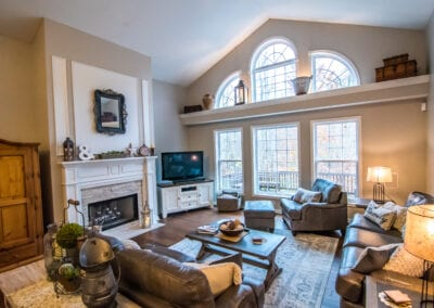 Fireplace in Living Room with big Window