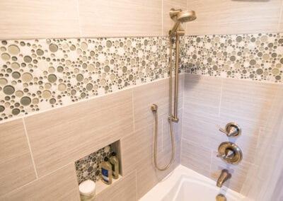 Maple Natural Tiles Bathroom Tub Modeling