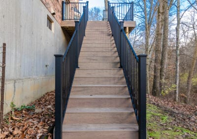 Fenced Stair Deck Modeling