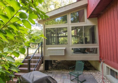 Closed Deck and stairs