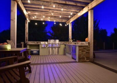 Lightening Deck with outdoor space Modeling
